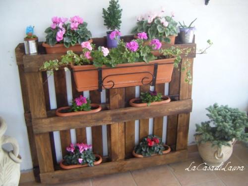 Pallet fioriera for Fioriere con bancali